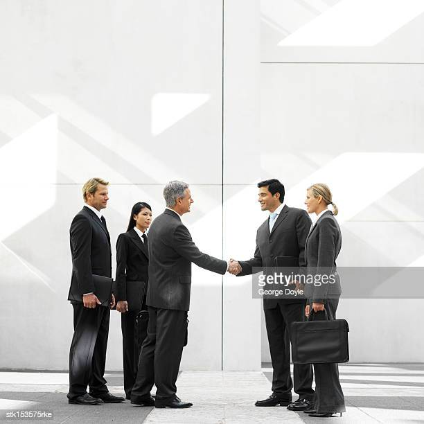group of business executives introducing themselves