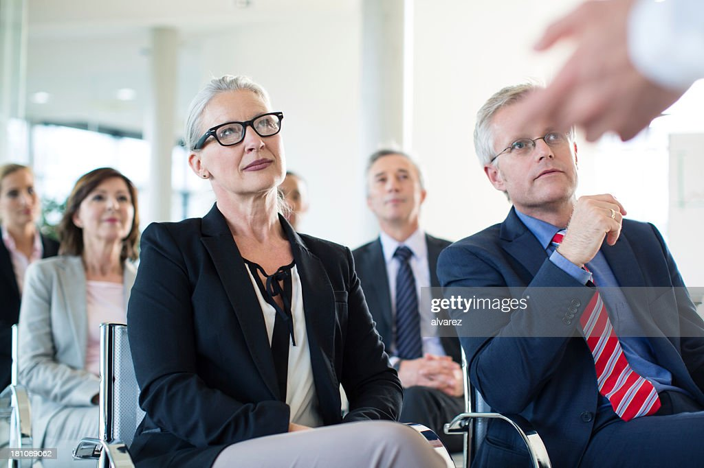 Group of business people at a presentation