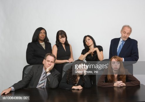 Group of business people at conference table : Stock Photo