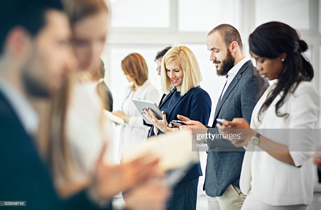 Group of business people at the office communicate : Stock Photo
