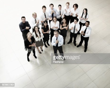 Group of business people clapping : Stock Photo