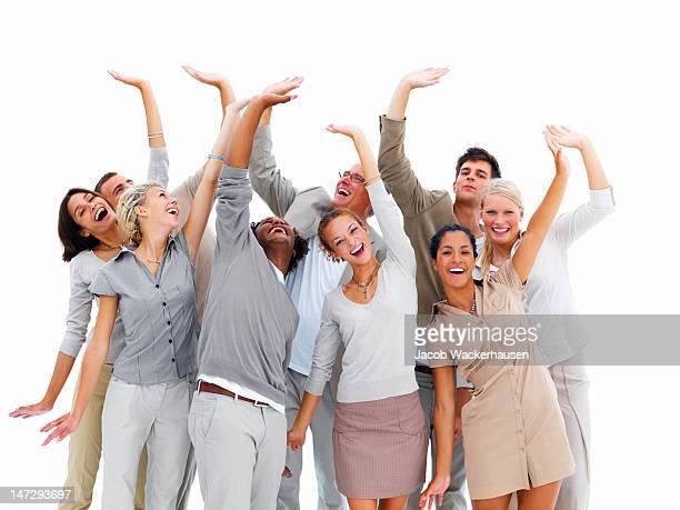 Groupe de gens d'affaires gestes