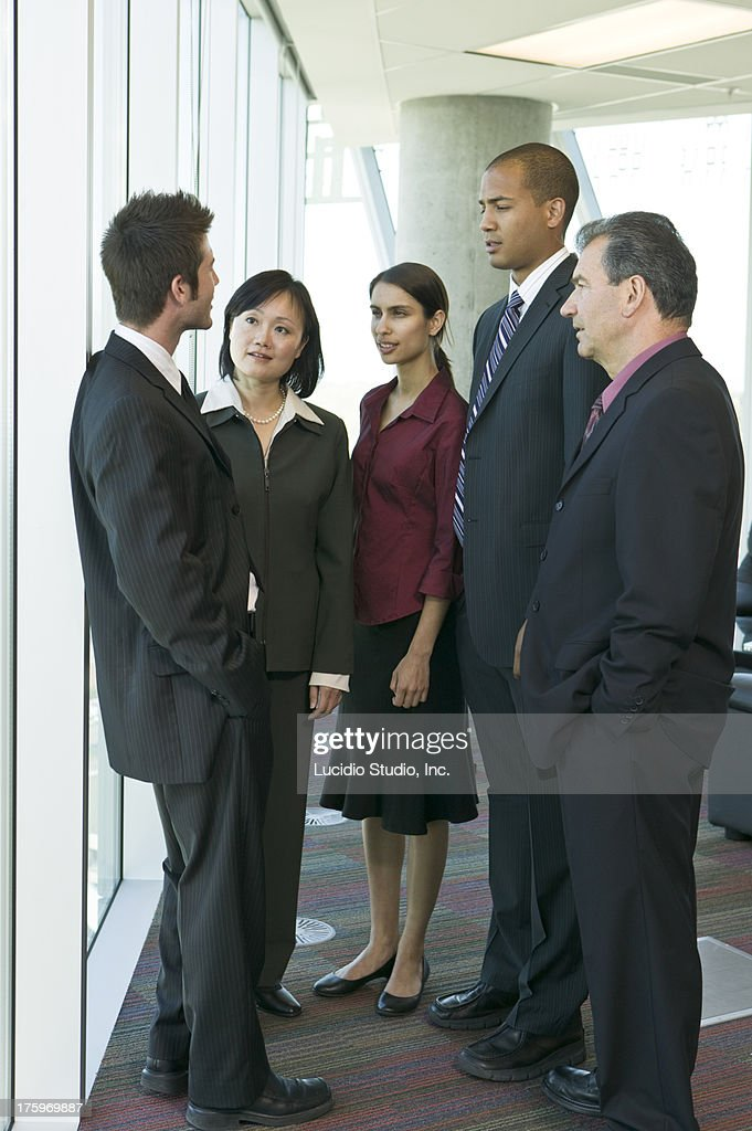 Group of business people in a casual meeting : Stock Photo