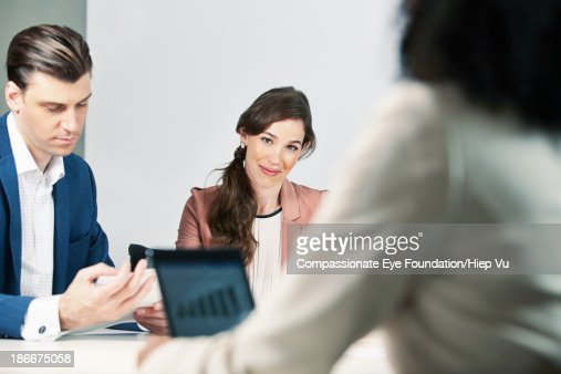 Group of business people in meeting : Stock Photo