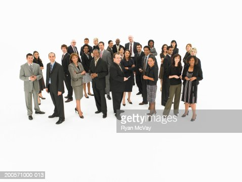 Group of business people in studio : Stock Photo