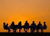 Grupo de personas de negocios de reuniones