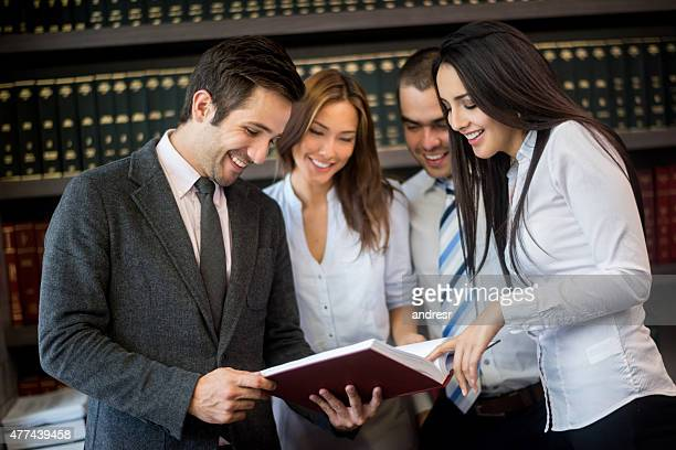 Group of business people or lawyers