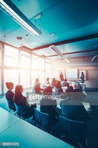 Group of business people, seminar, office, education