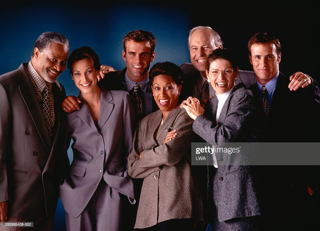 Group of business people smiling, portrait : Stock Photo