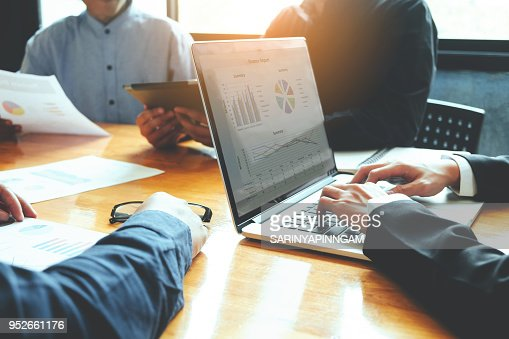 Group Of Business team meeting working and brainstorming new business project : Stock Photo