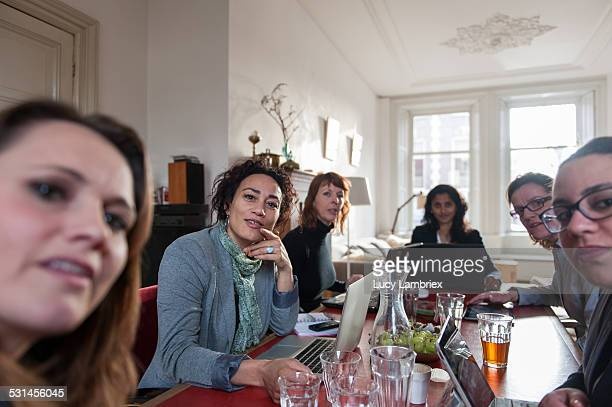Group of business women at a meeting