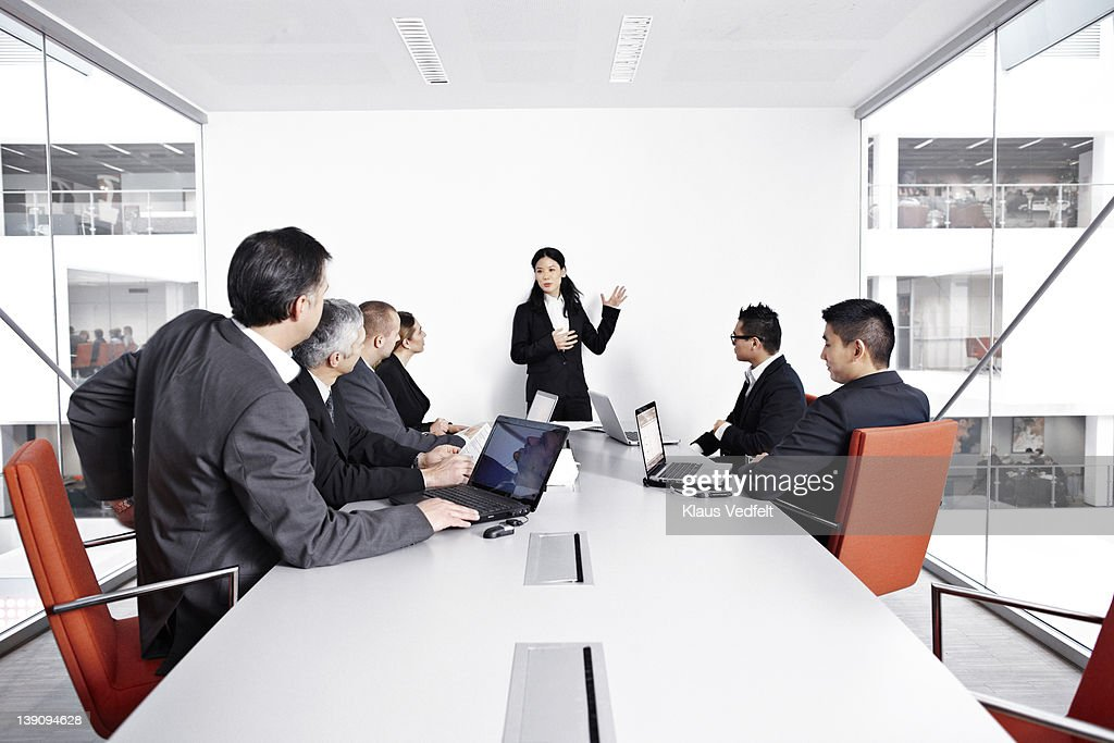 Group of businesspeople in meeting room