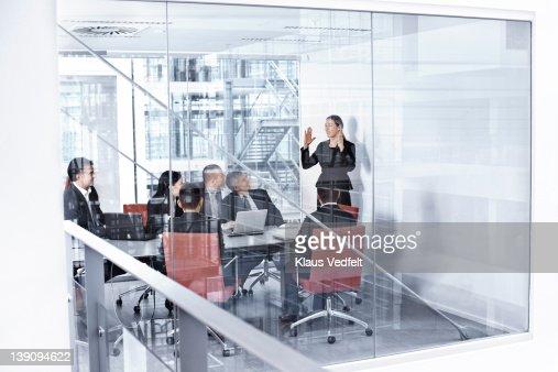 Group of businesspeople in meetingroom : Stock Photo
