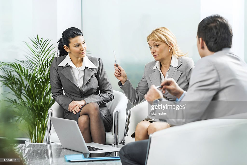 Group of businesspeople on a meeting. : Stock Photo