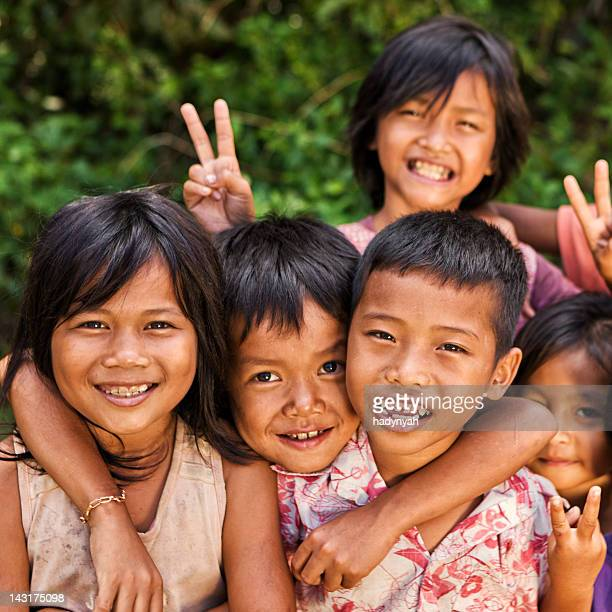 Gruppo di bambini di Cambogia