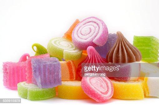 Grupo de caramelos Thai el postre, Tailandia : Foto de stock