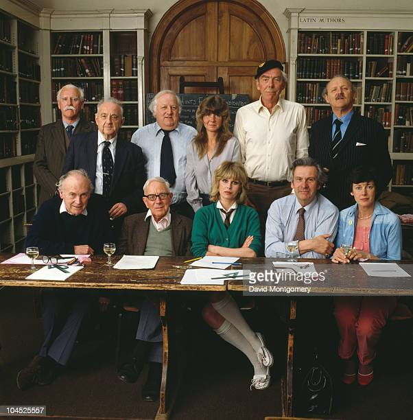 A group of celebrities prepare to take the Common Entrance Exam intended for British schoolchildren around the age of 13 5th March 1981 Among them...