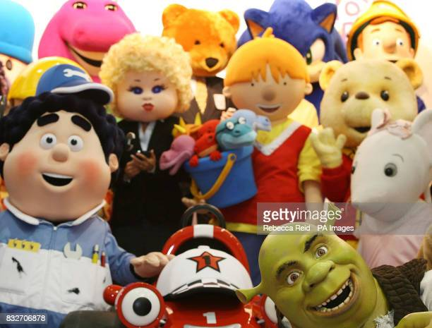 A group of characters assemble to welcome guests to the Toy Fair at London's ExCel centre