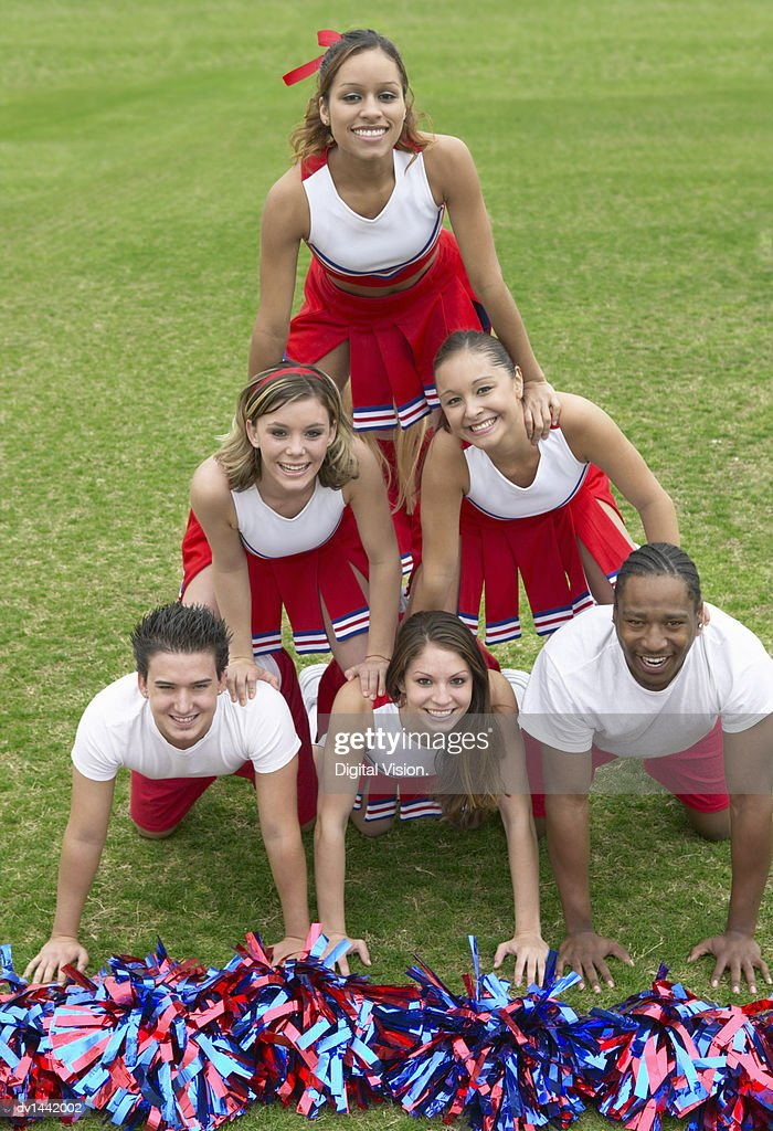 Group of Cheerleaders : Stock Photo