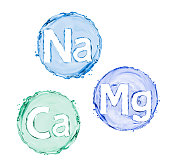 Group of chemical minerals and microelements. (Calcium, Natrium, Magnesium)