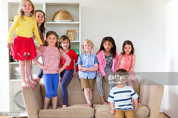 Group of Children at Home