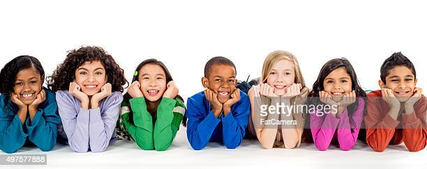 Group of Children in a Row