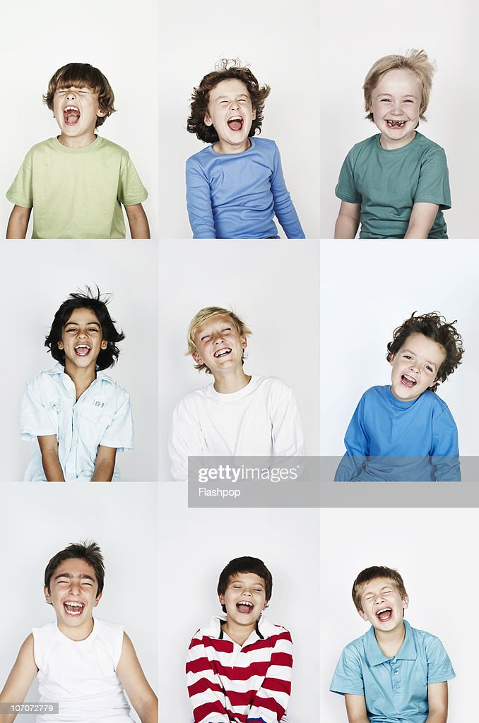 Group of children laughing : Stock Photo