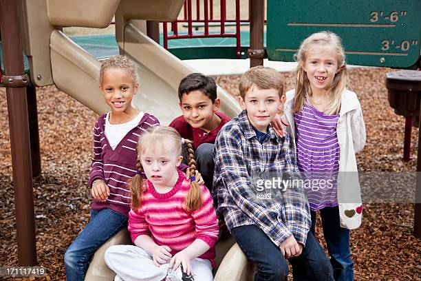 Group of children on playground