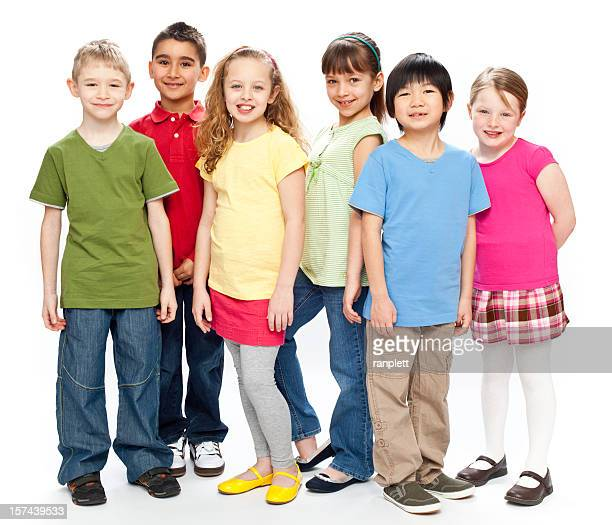 Gruppe von Kindern (isoliert