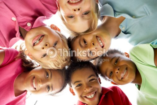 Group Of Children Playing In Park : Stock Photo