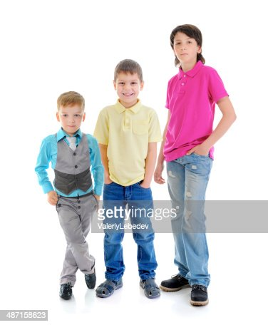 Group of children posing : Stock Photo