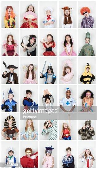 Group of children wearing fancy dress
