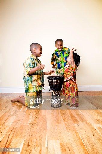 A group of christen near a banjo