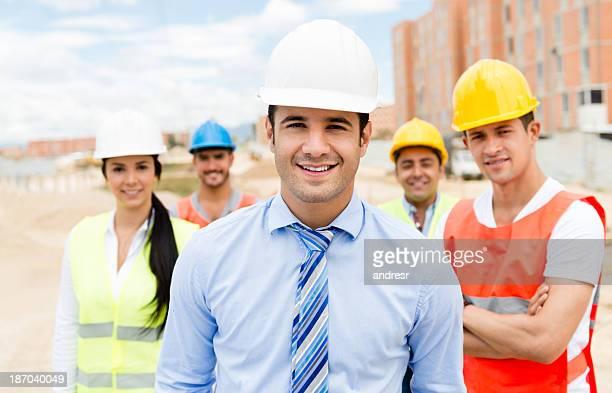 Group of civil engineers