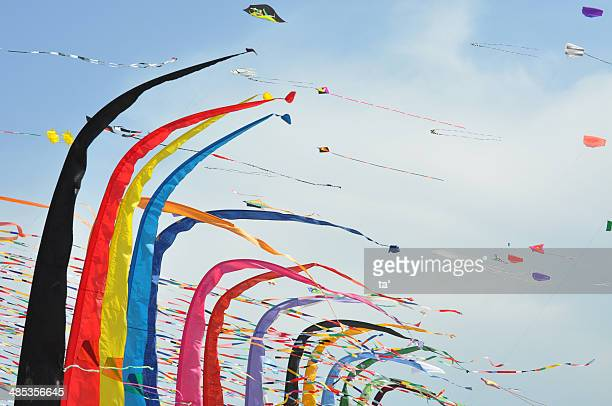 A group of colorful kites