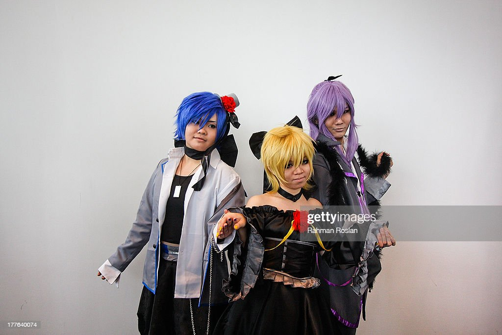 A group of Cosplayer pose for a photograph during the final day of AniManGaki on August 25, 2013 in Kuala Lumpur, Malaysia. AniManGaki, which is now into its fifth year, attracts fans of Anime, Manga and Cosplay from across Asia who gather together to celebrate the genre.