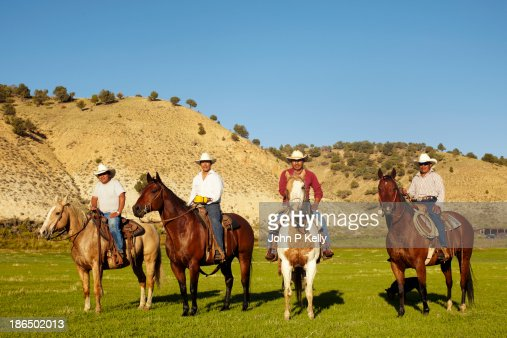 Group of cowboys