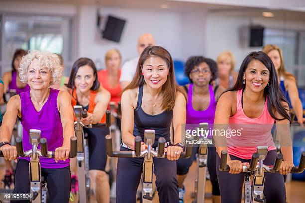Group of Cyclers in Spin Class