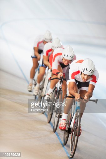 Group of cyclists in competition : Stock Photo