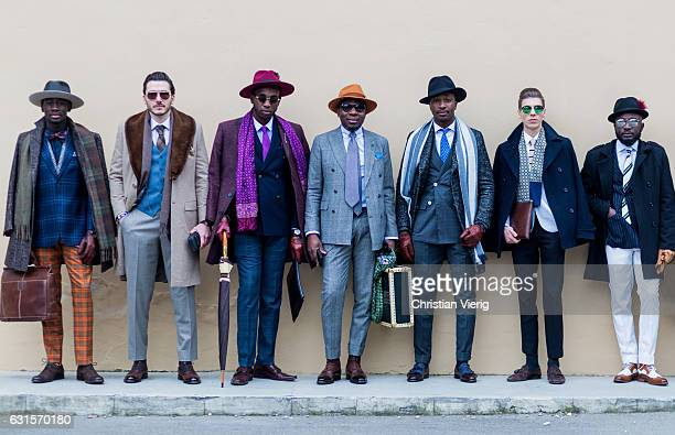 A group of dandy guests on January 12 2017 in Florence Italy