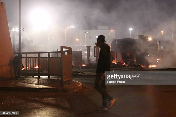 A group of demonstrators clashed with Bahraini regime forces after the issuance of the death sentence against a group of Bahraini officer accused in...