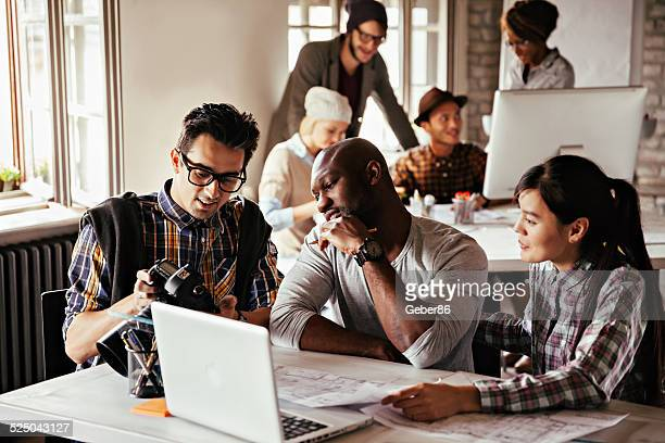 Group of designers working together