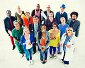 Group of Diverse Multiethnic People Various Jobs Concept