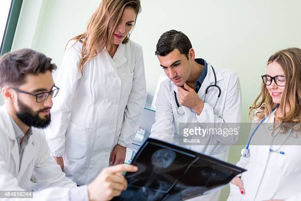 Group of doctors at the medical office