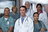 'Group of doctors smiling, portrait'