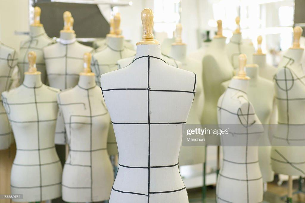 Group of dressmaker's models : Stock Photo