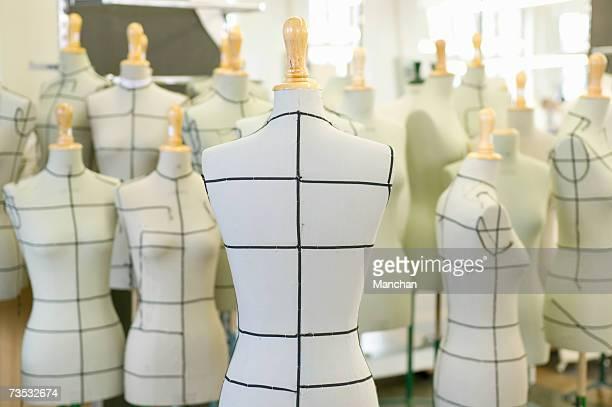 Group of dressmaker's models