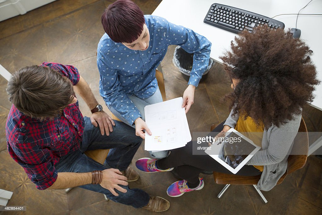 Group of entrepreneurs at a meeting