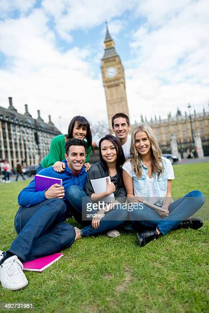 Group of exchange students