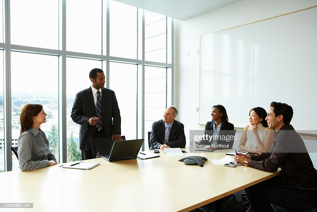 Group of executives meeting in boardroom : Stock Photo